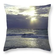 Sunrise Over Gulf Of Mexico Throw Pillow