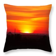 Sunrise Over Hanford  Throw Pillow