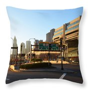 Sunrise Over Haymarket Station In Boston Throw Pillow
