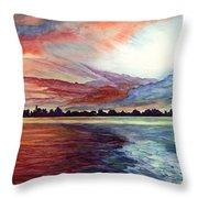 Sunrise Over Indian Lake Throw Pillow