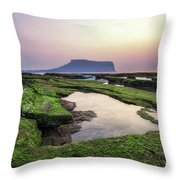 Sunrise Over Jeju Island Throw Pillow