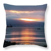 Sunrise Over Kachemak Bay Throw Pillow