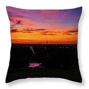 Sunrise Over Kennedy's Grave Arlington Cemetery Throw Pillow