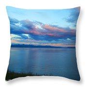 Sunrise Over Lake Yellowstone Throw Pillow