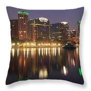 Sunrise Over Orlando Throw Pillow