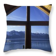 Sunrise Over Resurrection Bay From Salt Throw Pillow