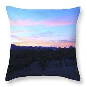 Sunrise Over Rincon Mountains Throw Pillow
