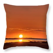 Sunrise Over Salt Pond Throw Pillow