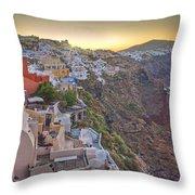 Sunrise Over Santorini, Greece 1 Throw Pillow
