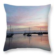 Sunrise Over The Atlantic Ocean Throw Pillow