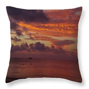 Sunrise Over The Caribean Throw Pillow