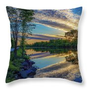 Sunrise Over The Champlain Canal Throw Pillow