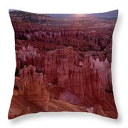 Sunrise Over The Hoodoos Bryce Canyon National Park Throw Pillow by Dave Welling