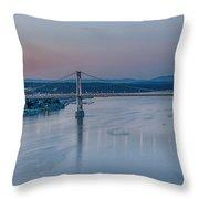 Sunrise Over The Hudson Throw Pillow