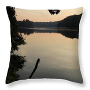 Sunrise Over The Huron River Throw Pillow