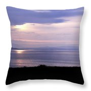 Sunrise Over The Mainland Throw Pillow