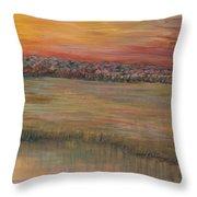 Sunrise Over The Marsh Part II Throw Pillow