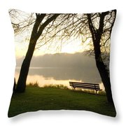 Sunrise Over The Maumee Throw Pillow