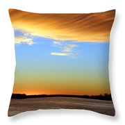 Sunrise Over The Mississippi Throw Pillow