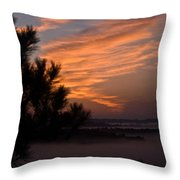 Sunrise Over The Mist Throw Pillow