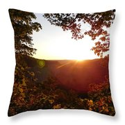 Sunrise Over The Mountain  Throw Pillow
