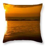 Sunrise Over The Ocean Throw Pillow
