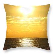 Sunrise Over The Ocean8833 Throw Pillow