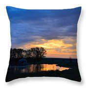 Sunrise Over The Pond Throw Pillow
