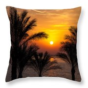 Sunrise Over The Red Sea Throw Pillow by Jane Rix
