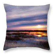 Sunrise Over The Salt Marsh Throw Pillow