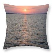 Sunrise Over The Sea Horizon Throw Pillow