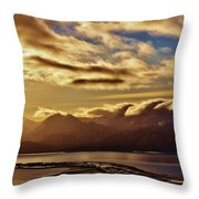Sunrise Over The Spit Throw Pillow