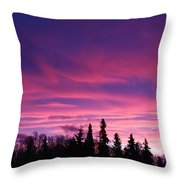 Sunrise Over The Trees Throw Pillow