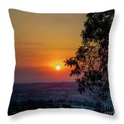 Sunrise Over The Valley Throw Pillow