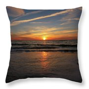 Sunrise Over The Waves Throw Pillow