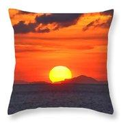 Sunrise Over Western Cuba Throw Pillow