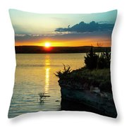 Sunrise Over Wilson Lake Throw Pillow