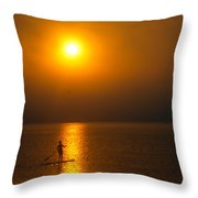 Sunrise Paddler Throw Pillow