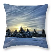 Sunrise Pines Throw Pillow