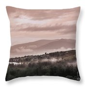 Sunrise Pink Over Tlacolula Valley Throw Pillow