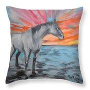 Sunrise Pony Throw Pillow