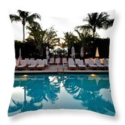 Sunrise Pool Throw Pillow