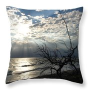 Sunrise Prayer On The Beach Throw Pillow