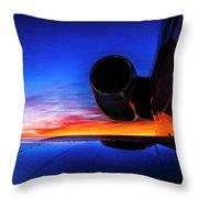 Sunrise Pre Flight Throw Pillow