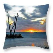 Sunrise Punta Cana Throw Pillow
