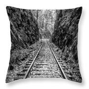 Sunrise Rails Black And White Vertical Panorama Throw Pillow