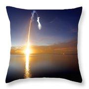 Sunrise Rocket Throw Pillow