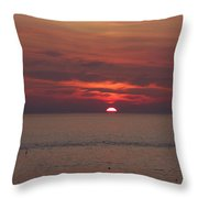 Sunrise Rockport Ma Throw Pillow