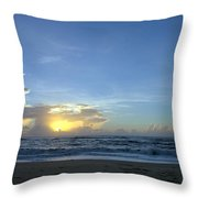 Sunrise Sept 2016 Obx Avon  Throw Pillow