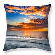 Sunrise Serenades The Beach Throw Pillow